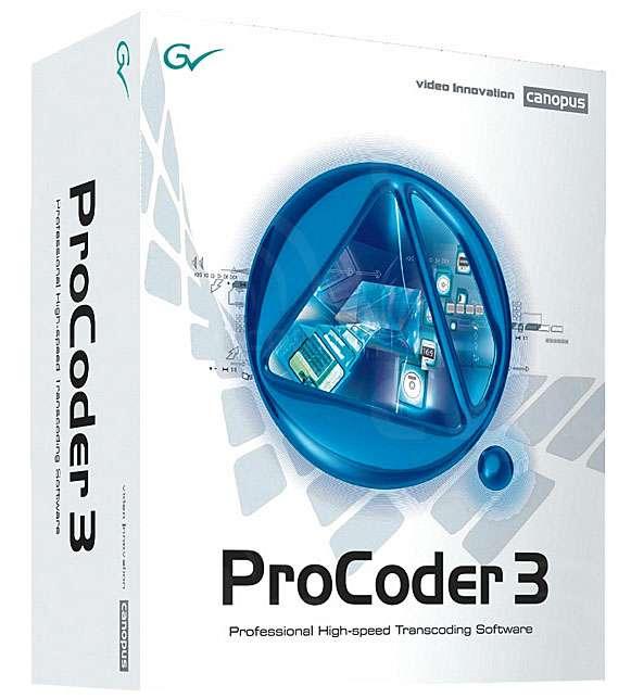 Grass Valley (GV-PC3) Canopus Procoder 3 Format Converter Software