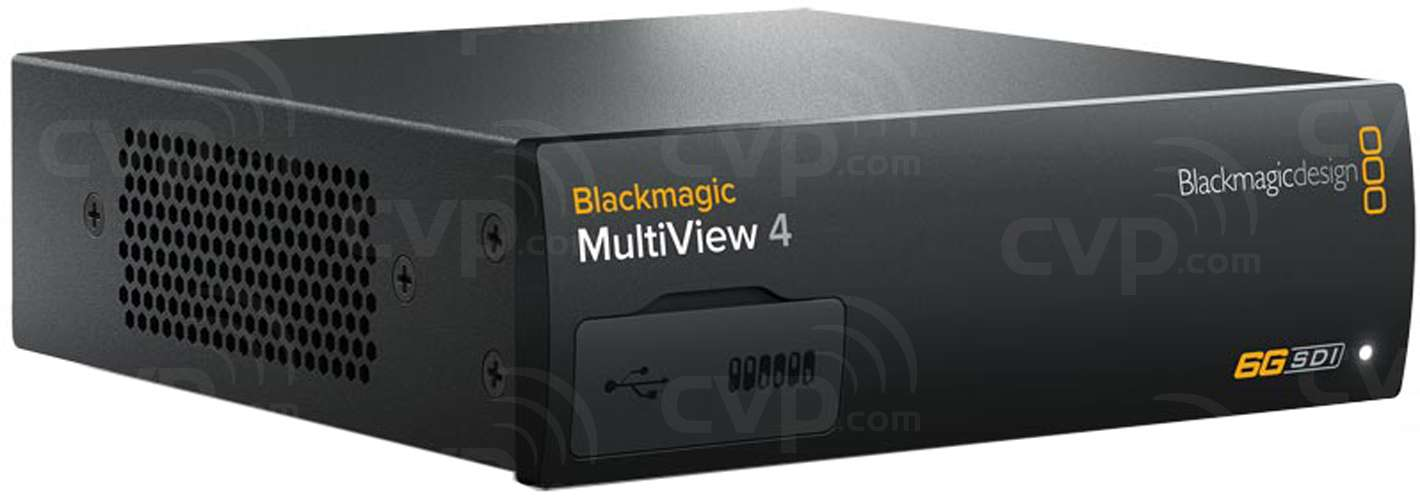 Blackmagic MultiView 4K - Multi Source Monitoring with 4 independent