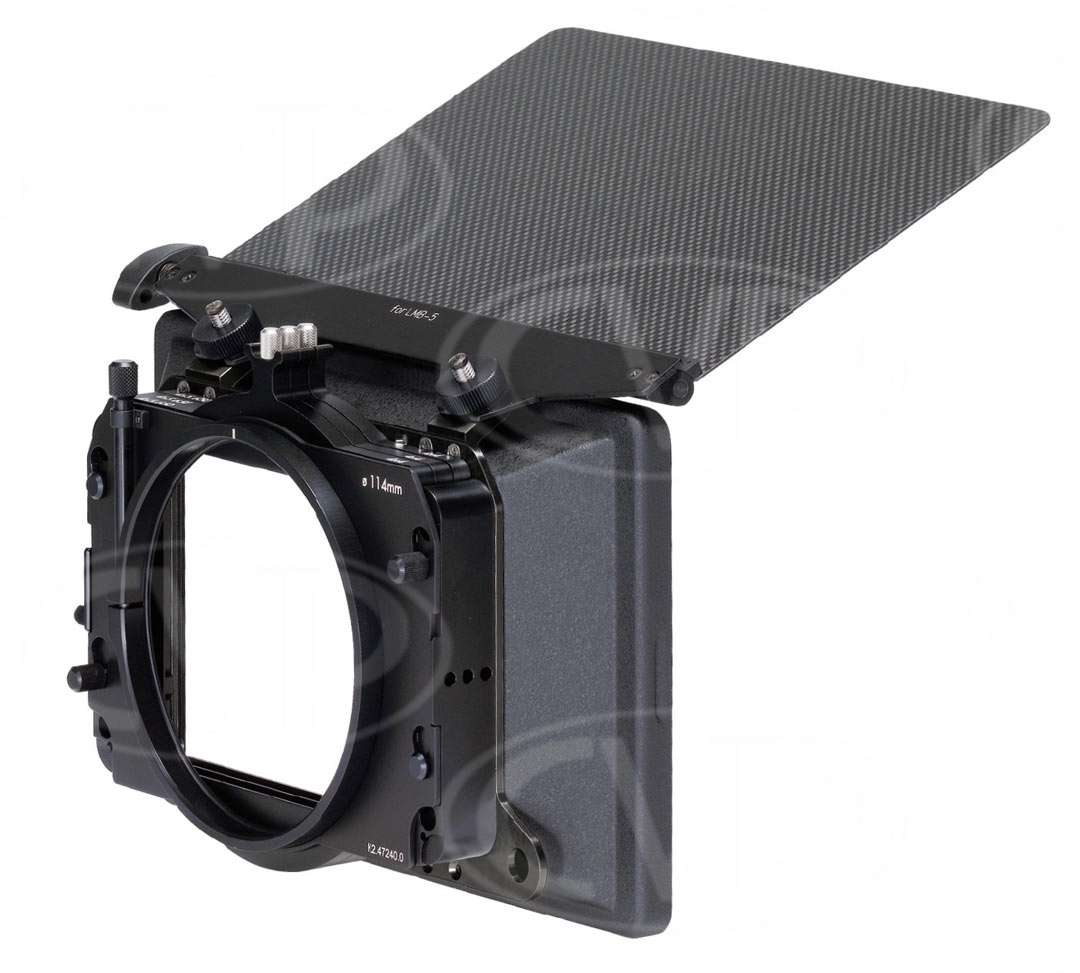 Arri K0.60180.0 (K0601800) LMB-25 Two Stage Matte Box Set - includes LMB-25 basic module, 2-tray stage, top/bottom flag and 2 x filter trays