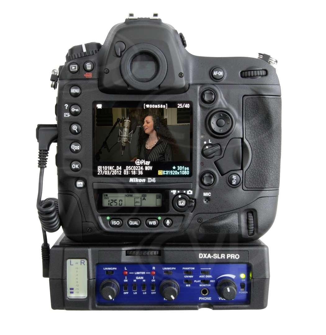 Camera Dslr Camera With Xlr Input beachtek dxa slr pro dxaslrpro xlr audio adaptor for dslr cameras