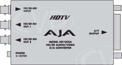 AJA HD10CEA D-A converter - SDI / HD-SDI to Analoge