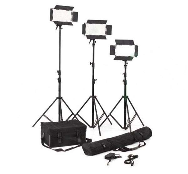 Lishuai (LED500AVLK-3) Daylight LED Lighting Kit - 3 head kit