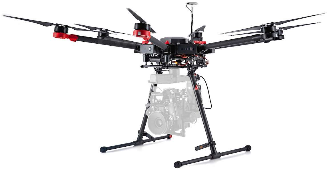 DJI Matrice 600 (M600) Quadcopter with A3 and Lightbridge 2