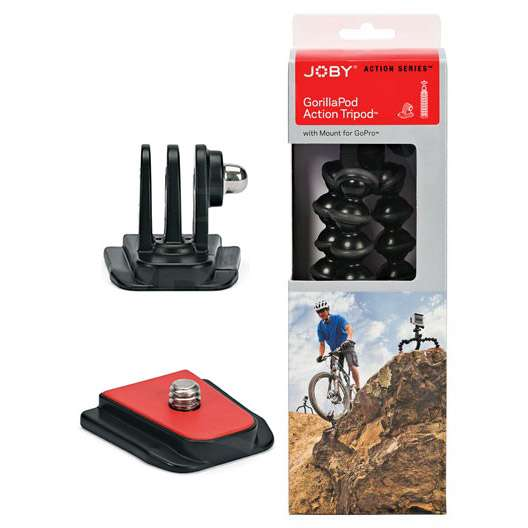 Joby GorillaPod Action Tripod with Mount for GoPro and 1/4-inch