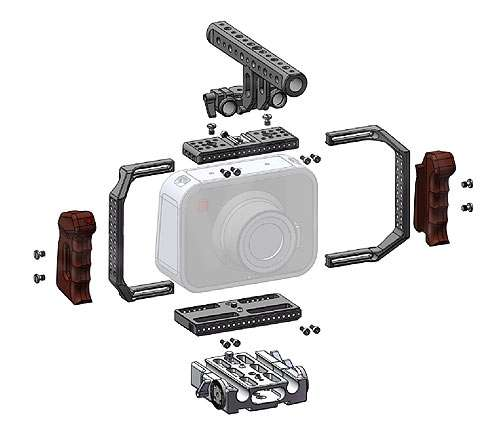 Movcam Blackmagic Cinema Camera Cage