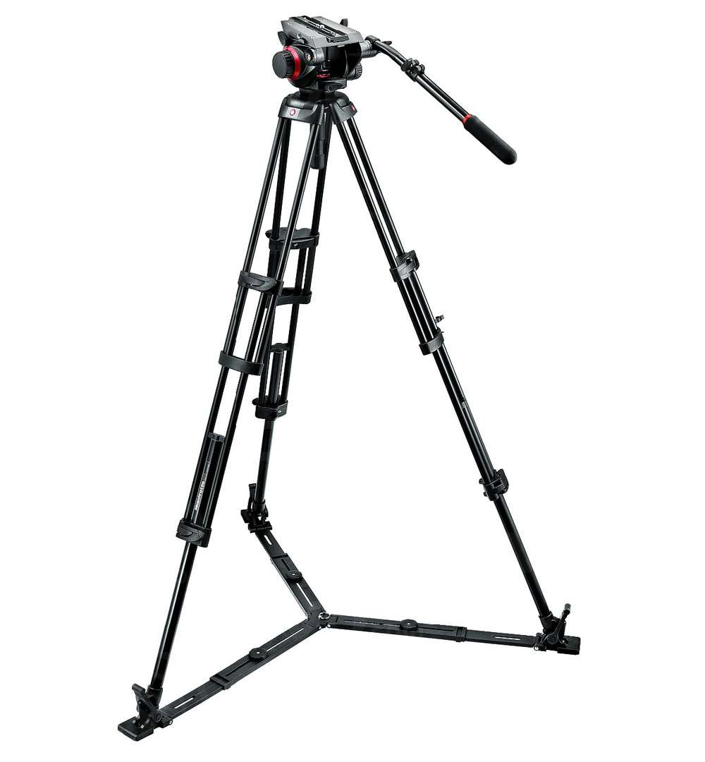 Manfrotto 504HD,546GBK (504HD546GBK) Tripod System includes 504HD Head + 546B