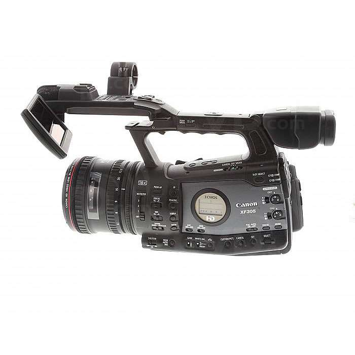 USED Canon XF305 (XF-305) HD Camcorder - MPEG-2, 50Mbps, 4:2:2