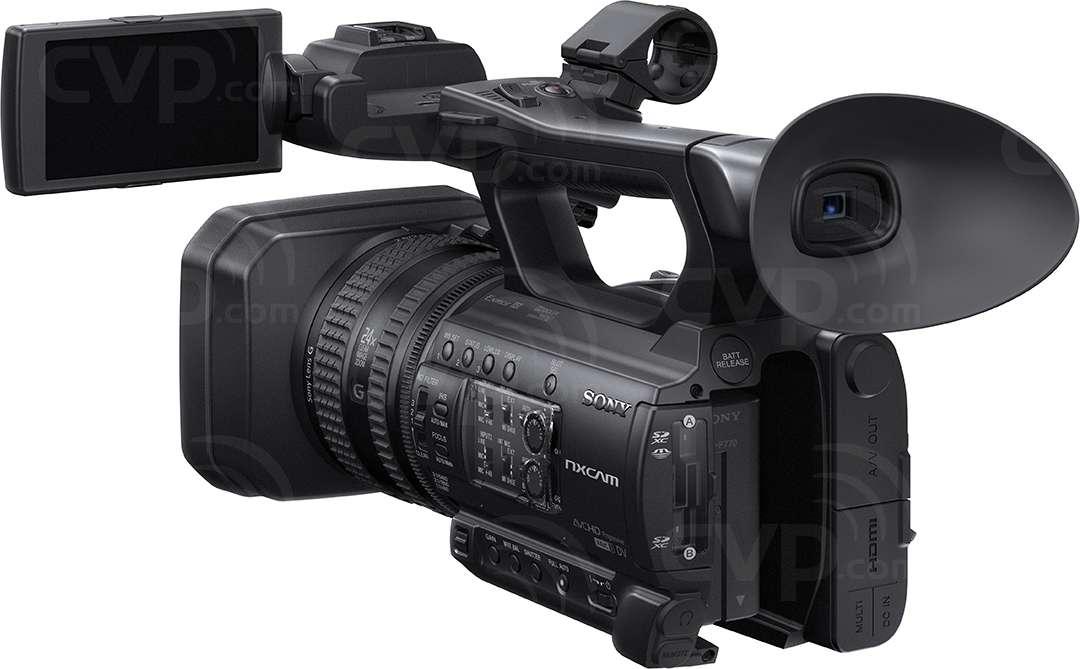 Sony HXR-NX100 rear angled view