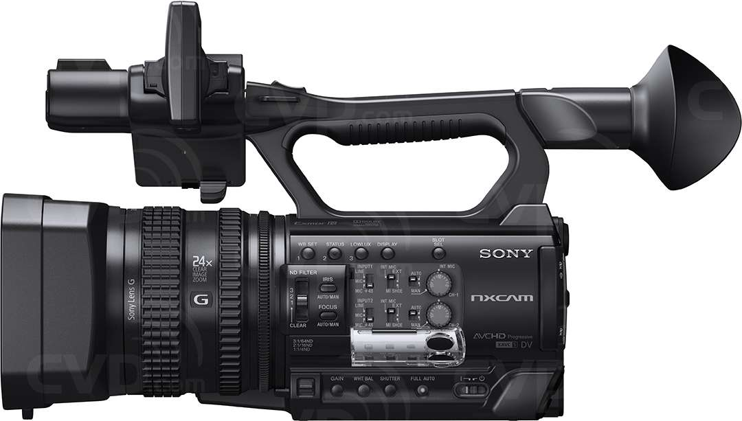 Sony HXR-NX100 side view two