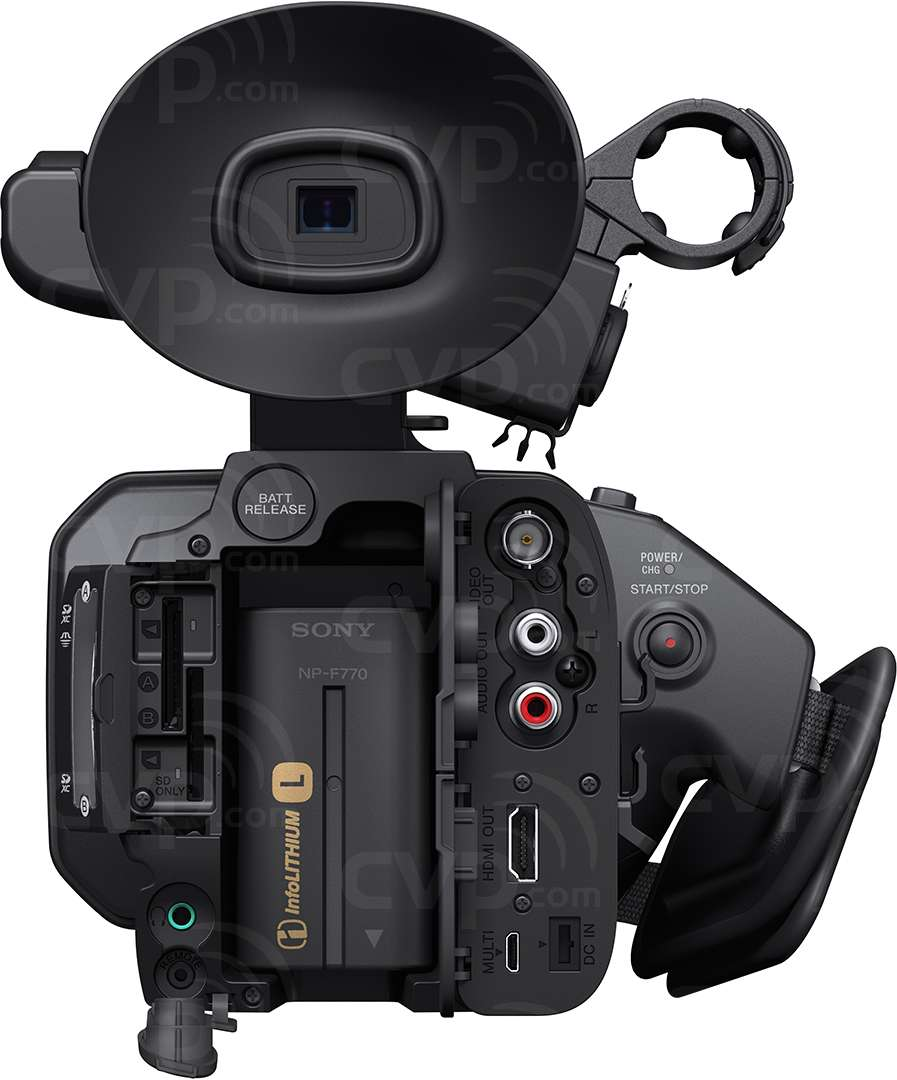 Sony HXR-NX100 rear view