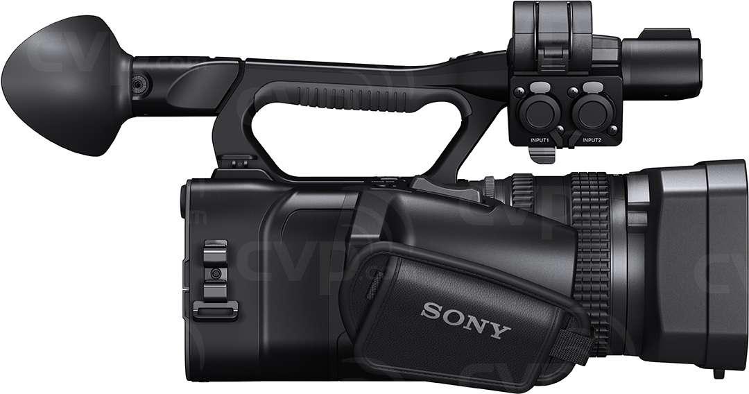 Sony HXR-NX100 side view