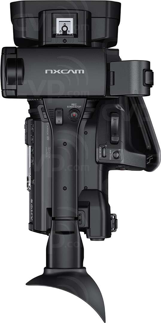 Sony HXR-NX100 top view