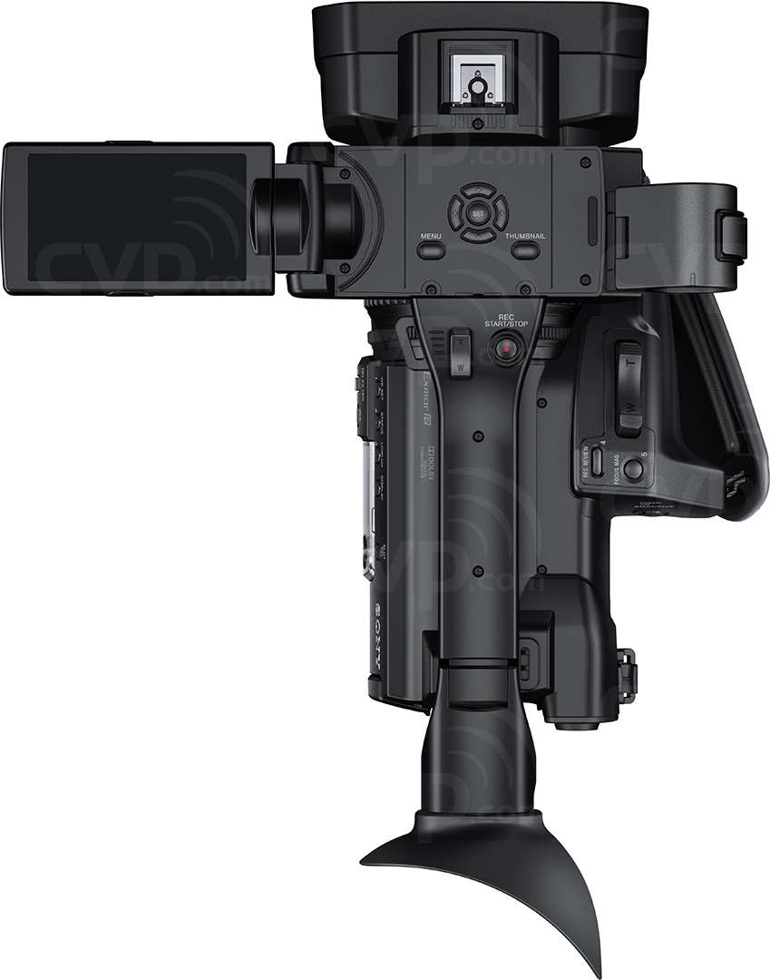Sony HXR-NX100 top view open monitor