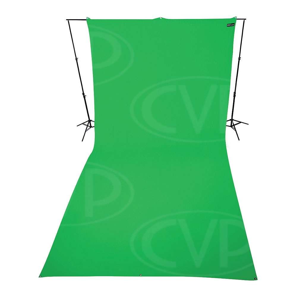 Westcott 132 9ft x 20ft (2.74m x 6.09m) Green Screen Backdrop (860384) Stand in image not included.