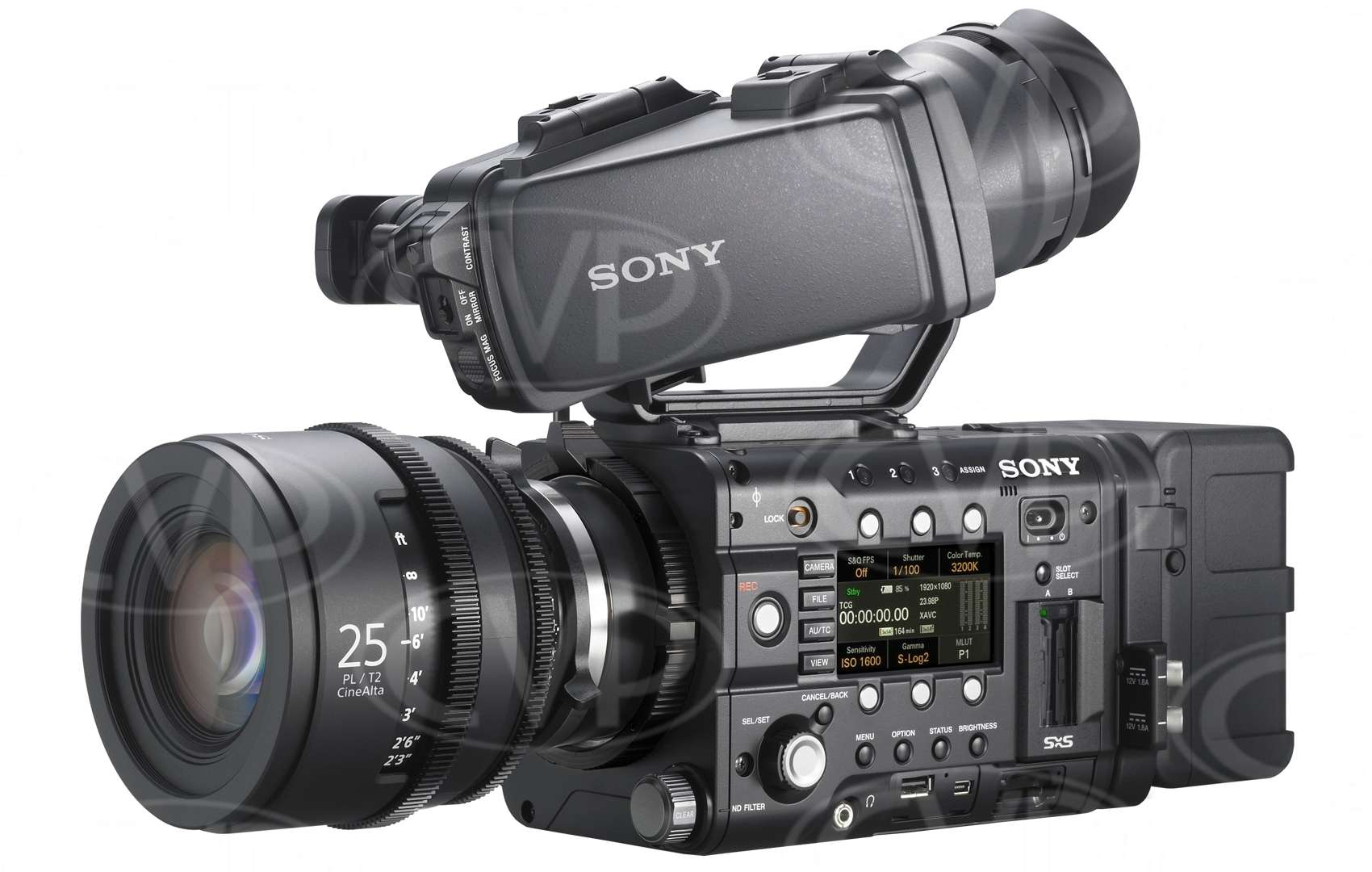 Sony PMW-F5 (PMWF5) Super 35mm Full HD 4K CMOS Sensor Compact CineAlta Camcorder - Records HD/2K on SxS memory plus 16-bit RAW 2K/4K output
