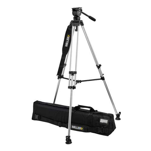Miller 3015 - Air LW Alloy Tripod System - Lightweight Toggle DV 1-stage Alloy Tripod with Air Fluid Head (3015)