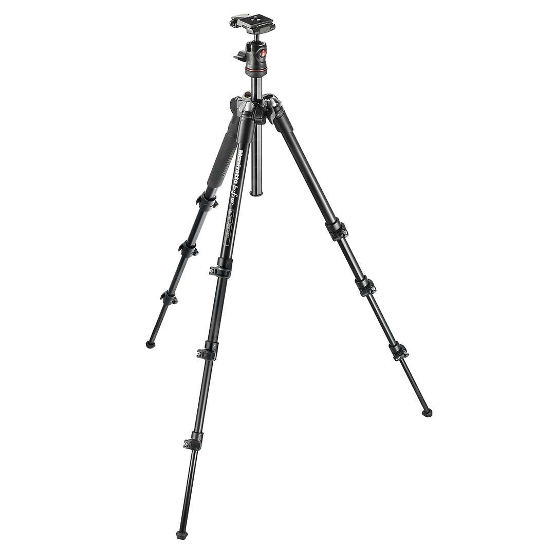 Manfrotto MKBFRA4-BH (MKBFRA4BH) Befree Compact Lightweight Travel Tripod for photography