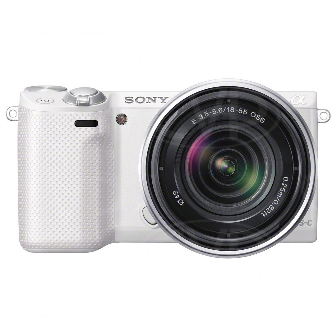 sony nex 5r nex5r 16 1 megapixel dslr style digital camera with 18 55mm lens white. Black Bedroom Furniture Sets. Home Design Ideas