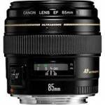 Canon EF 85mm f/1.8 USM Medium Telephoto Lens (p/n 2519A012AA)