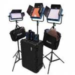 Dracast ENG Plus Complete Kit - 2x LED1000Plus and 1x LED500Plus Heads with Stands, Batteries and Chargers, Filters and Hard Case (DRPL-ENG-D-CK)