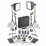 Dedolight SLED2x2-BI-BAT 4-Light Kit - BICOLOR DC (BASIC) (2x DLED / 2x Felloni) (SLED2x2BIBAT)