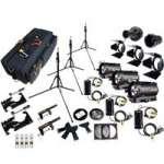 CVP Dedolight Kit (3ADV-24) Advanced Professional 24V/150w 3 Head Lighting Kit with Stands, Dimmers, Case and Accessories