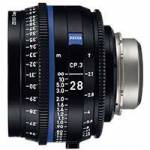 Zeiss CP.3 28mm T2.1 Compact Prime Cine Lens - PL Mount | Available in Feet and Meter Scale (2193-344 / 2193-339)