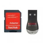 Sandisk SDDRK-121-B35 (SDDRK121B35) USB microSD / M2 Reader and microSD to SD Adapter