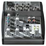 Behringer Xenyx 502 Mixer - Premium 5 Input 2 Bus Mixer with XENYX Mic Preamp and British EQ