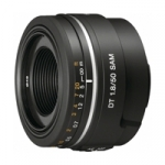 Sony SAL-50F18 (SAL50F18) A-Mount DT 50mm f/1.8 SAM Mid-Range Prime Digital Camera Lens