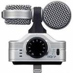 Zoom IQ7 (IQ-7) Mid-Side Stereo Microphone for the iPhone 5, 5s, 5c, iPod Touch (5th Generation), iPad (4th Generation), iPad Air, iPad Mini, and iPad Mini with Retina Display