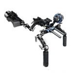 Tilta TT-03-TL (TT03TL) HDSLR Shoulder Mount Rig - includes Follow Focus, Portable Baseplate Handgrips, Adjustable Shoulder Pad + Counterweight