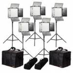 Ikan RB10-5PT-KIT (RB105PTKIT) Rayden Bi-Colour 5-Point LED Light Kit with 5x RB10 Lights