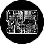rosco 77972 (DHA 972) Printed Circuit gobo in M size (compatible with dedolight projection system)