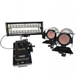 Ex Demo Gekko 3 head location LED lighting kit - 2 x k7 spot + 1 x karesslite 100 Bi-colour, AC / DC c/w backpack case KIT-3HEAD200