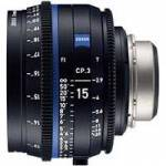 Zeiss CP.3 15mm T/2.9 Compact Prime Cine Lens - F Mount | Available in Feet or Meter Scale (2189-454 / 2189-449)