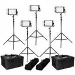 Ikan LW5-5PT-KIT (LW55PTKIT) Lyra Daylight 5-Point LED Soft Panel Light Kit with 5x LW5 LED Light