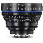 Zeiss (1868-913) 18mm T/3.6 T* Compact Prime CP.2 Lens (PL Fit / Imperial Scale)