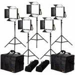 Ikan LW10-5PT-KIT (LW105PTKIT) Lyra Daylight 5-Point LED Soft Panel Light Kit with 5x LW10 LED Lights