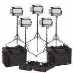 Ikan MW8-5PT-KIT (MW85PTKIT) Mylo Daylight 5-Point LED Light Kit with 5x LED Light, Stands and Bags