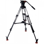 Sachtler 1263 System 12 SB ENG 2 MCF - DV 12 (DV12) Speed Balance Fluid Head + ENG 2 CF 2 Stage Carbon Fibre Tripod + Mid-level Spreader