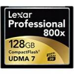 Lexar (LCF128CRBEU800) Professional CF 128GB 800x 120MB/s Compact Flash Memory Card