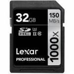 Lexar (LSD32GCRBEU1000) 32GB Professional 1000x SDHC UHS-II Memory Card