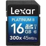 Lexar (LSD16GBBEU300) 16GB SDHC 300X Premium II Memory Card (Class 10) U1