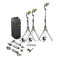 Dedolight KDL4-BI3B 3-Head Basic LED 4.1 Bi Colour Kit with Soft Case (KDL4BI3B)