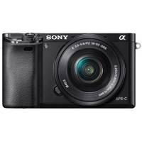 Sony Alpha a6000 24.3 Megapixel Digital Camera with 16-50mm and 55-210mm Lenses (Black) (p/n ILCE6000YB.CEC)