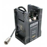 Hawk-Woods DV-SQN4S (DVSQN4S) Mini DV Stand-Alone Power Adaptor with Hirose cable and 4 auxiliaries step-down