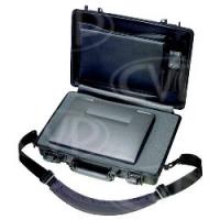 Peli Products 1490CC2 Standard Notebook Computer Case - Black (Pelican, Pelicase) (Internal Dimensions: W 43.2 cm x D 26.7cm x H 6.0 cm)