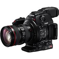 Canon EOS C100 Mark II Super 35mm Digital Cinematography Camcorder installed with Dual Pixel CMOS AF (built in auto focus) with EF 24-105 mm Lens (Canon p/n 2244C004AA)