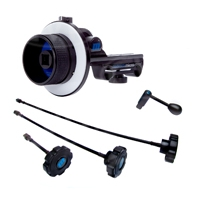 Redrock Micro microFollowFocus Complete Package includes microFollowFocus, microWhips (x3), microSpeedCrank and Grease Pencil (p/n 16-066-1105)